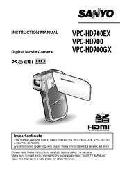 sanyo vpc hd700 xacti camcorder 720p manuals rh manualslib com Apple iPhone User Guide iPod Nano User Guide