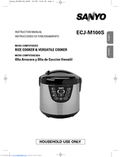 sanyo ecj m100s micom rice versatile cooker manuals rh manualslib com