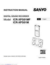sanyo icr xps01m xacti digital sound recorder manuals rh manualslib com sanyo digital voice recorder icr- b20 manual sony digital voice recorder manual icd-px312