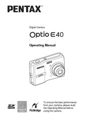 pentax optio e40 manuals rh manualslib com Pentax Optio 30 Pentax Optio RX18