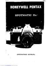 Honeywell Spotmatic Iia User Manual