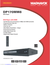 magnavox dp170mw8 up converting hdmi dvd player manuals rh manualslib com Magnavox DVD VCR Player Magnavox TV