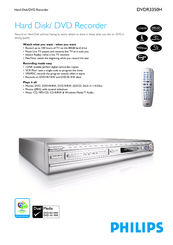 Philips DVDR3350H/37 DVD Recorder Drivers for Windows