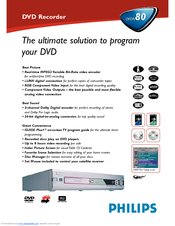 Philips DVDR890A DVD Recorder Driver Download