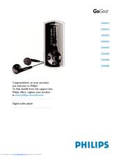 Philips SA4345/37 MP3 Player Treiber Herunterladen
