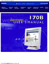 philips 170b manuals rh manualslib com Philips LCD TV Manual Philips LCD TV Manual