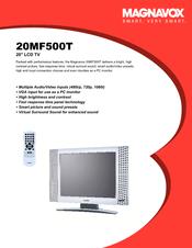 magnavox 20mf500t 20 lcd tv manuals rh manualslib com manual for magnavox dvd player manual for magnavox tv model mc09d1mg01