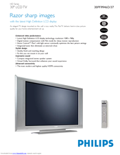 Philips 30PF9946 Specifications