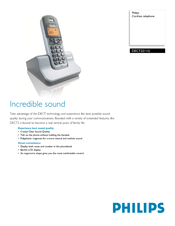 Philips DECT221 Specifications