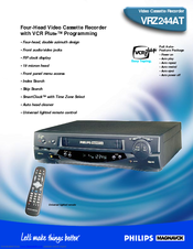 Philips VRZ244AT Specifications
