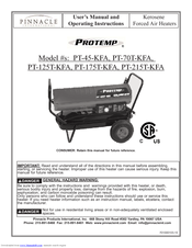 pinnacle international protemp pt 70t kfa manuals we have 1 pinnacle international protemp pt 70t kfa manual available for pdf user s manual and operating instructions