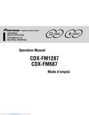 Pioneer CDX-FM1287 - CD Changer Operation Manual