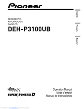Pioneer DEH-P310UB - Premier Radio / CD Operation Manual