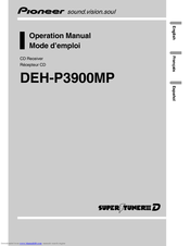 Pioneer DEH-P390MP - Premier Radio / CD Operation Manual