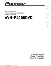 pioneer avh p4100dvd installation manual pdf download rh manualslib com pioneer avh-p4100dvd manual español Pioneer AVH P4100DVD Wiring-Diagram