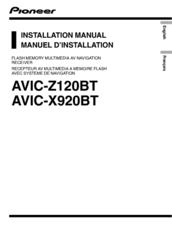 pioneer avic x920bt manuals rh manualslib com AVIC-Z120BT Update Pioneer AVIC- Z130BT