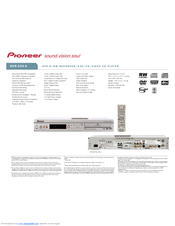 Pioneer DVR-233-S Specifications