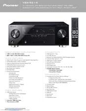 pioneer receiver vsx 521 manual