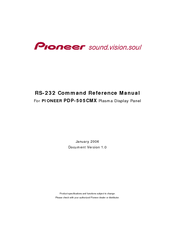Pioneer PDP505CMX - HD Plasma Display Command Reference Manual