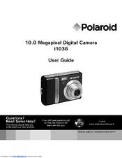 polaroid i1036 digital camera compact manuals rh manualslib com Instruction Manual Instruction Manual Book