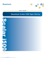 Quantum scalar i500 manuals.