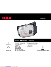 RCA AutoShot CC6291 Specifications