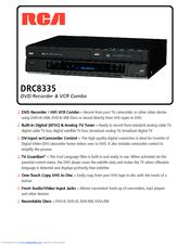 rca drc8335 dvd recorder vcr combo manuals rh manualslib com RCA DRC8030N Manual RCA DRC8030N Manual