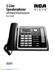 rca visys 25215 manuals rh manualslib com rca visys 25424re1 user manual rca visys 6.0 phone manual