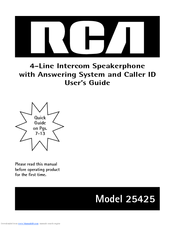 Rca 25204re1 visys corded phone manuals.