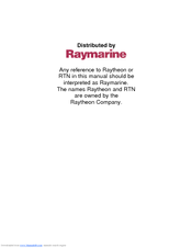 Raymarine RL70C User Manual