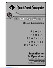 Rockford Fosgate Punch P5001bd Manuals. We Have 2 Rockford Fosgate Punch P5001bd Manuals Available For Free Pdf Download Installation And Operation Manual. Ford. Rockford Fosgate P500 Schematic At Scoala.co