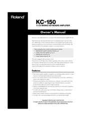 Roland KC   150    Manuals