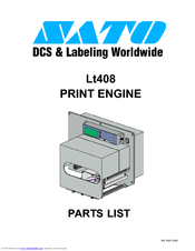 SATO LT408 Parts List
