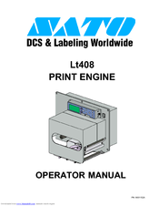 SATO LT408 Operator's Manual