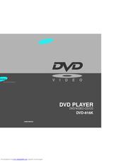 Samsung DVD-818K User Manual