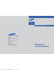 Samsung CL29A10 Owner's Instructions Manual