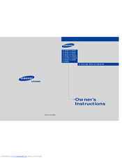 Samsung CL29A5 Owner's Instructions Manual