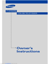 Samsung CT21M16 Owner's Instructions Manual