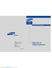 Samsung CT29Z7 Owner's Instructions Manual
