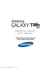 Samsung Galaxy Tab Galaxy Tab 10.1 16GB User Manual