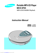 Samsung MCD-SF85 Instruction Manual