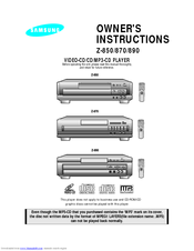 Samsung Z-870 Owner's Instructions Manual