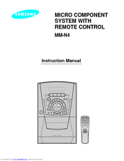 Samsung MM-N4 Instruction Manual