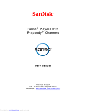 sandisk e260 sansa 4 gb digital player manuals rh manualslib com Operators Manual User Manual Template