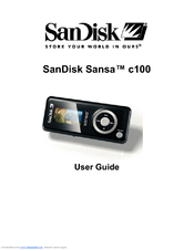 sandisk sansa c150 manuals rh manualslib com sandisk sansa c250 user manual Sansa iPod