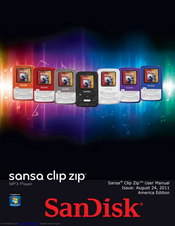 sandisk sansa sansa clip zip 4gb user manual pdf download rh manualslib com sandisk sansa clip 4gb manual sansa fuze 4gb manual