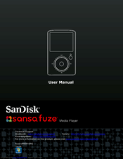 sandisk sansa sansa fuze 8gb user manual pdf download rh manualslib com