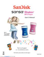 sandisk sansa sansa shaker 512mb user manual pdf download rh manualslib com
