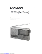 Sangean PT-633 Operating Instructions Manual