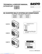 Sanyo CM2472 Technical & Service Manual